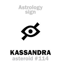 Astrology asteroid kassandra cassandra vector