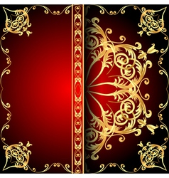 Background frame red vector