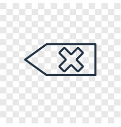Backspace concept linear icon isolated on vector
