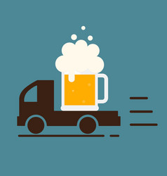 Beer delivery symbol template logo vector