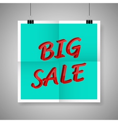 Big sale on blank paper poster vector