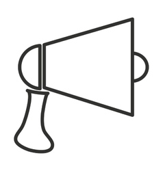 black and white megaphone graphic vector image