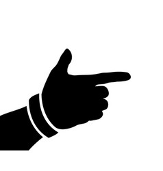 black hand silhouette form a gun or pistol vector image