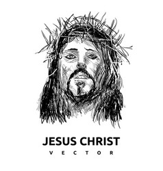 Black jesus christ logo vector