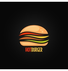 Burger symbol hamburger icon design background vector