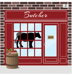 Butcher shop meat store vector