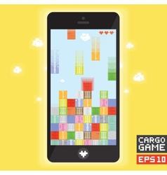 Cargo ship game vector