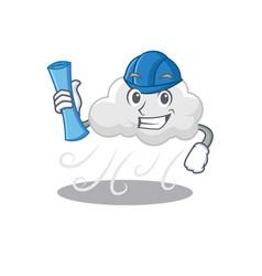 Cartoon character cloudy windy brainy vector
