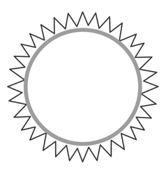 Circular badge icon vector