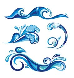 Collection of water vector image