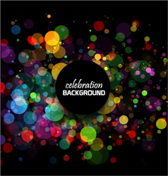 Colorful celebration background bubbles vector