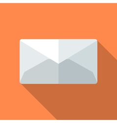 Colorful letter mail envelope icon in modern flat vector image