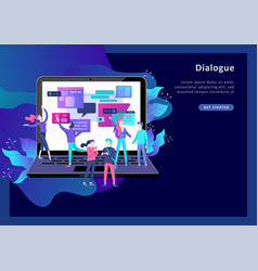 concept landing page template flat style vector image
