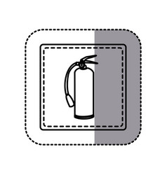 contour emblem sticker extinguisher icon vector image