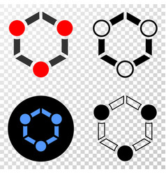 cooperation eps icon with contour version vector image
