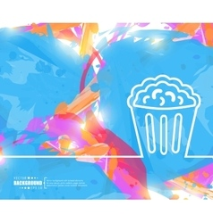 Creative popcorn Art template vector