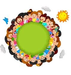 Crowd of children vector image