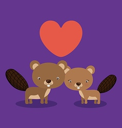 Cute animal vector image