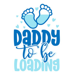 Daddy to be loading - pregnant vector
