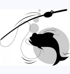 fish hunting vector image vector image