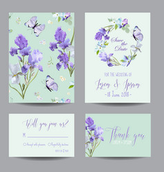floral wedding invitation template greeting card vector image vector image