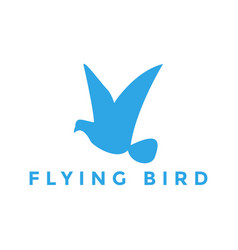flying bird logo design inspiration vector image