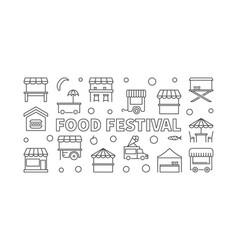 food festival street food vector image
