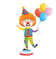 Funny clown vector