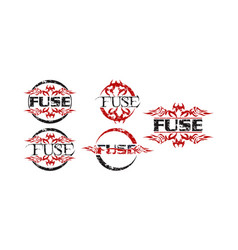 fuse logo template set vector image