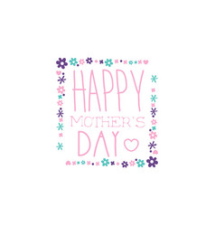 happy mothers day logo template label vector image