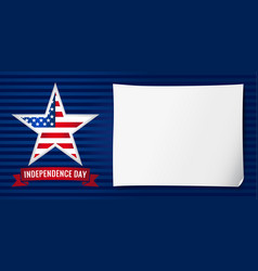 Independence day usa banner star vector