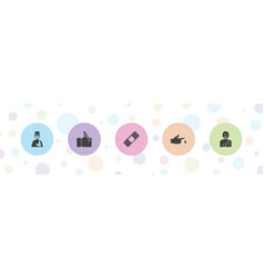 Injury icons vector