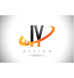 iy i y letter logo with fire flames design and vector image