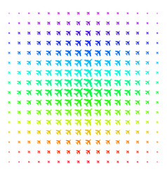 Jet plane icon halftone spectral pattern vector