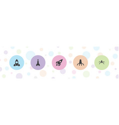 Launch icons vector