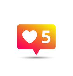 like icon social media comments vector image