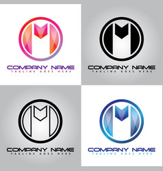 M-company beautiful modern colorful vector