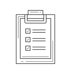 medical report line icon vector image