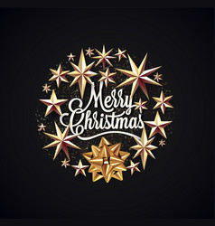 merry christmas lettering surrounded christmas vector image