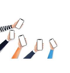 mobile application social media marketing vector image