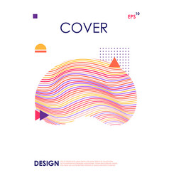 modern cover design template geometric abstract vector image