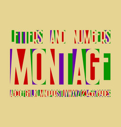 Montage colorful letters and numbers with vector