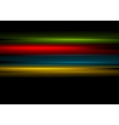 Multicolored stripes on black background vector image vector image