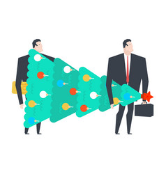 new years corporate party businessman holding vector image