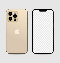 Newly released iphone 13 pro gold color vector