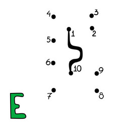 numbers game letter e vector image