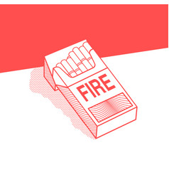 Pack cigarettes with inscription fire vector