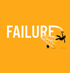 Painter painting the word failure on a wall by vector