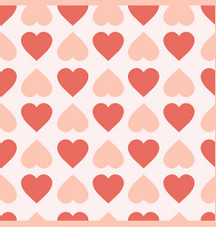 Pastel hearts seamless pattern cute valentines day vector