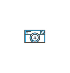 photo camera icon design photography and video vector image